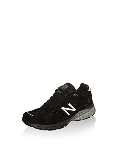New Balance Men's Made 990 V4 Sneaker, Black/Silver, 7 M US