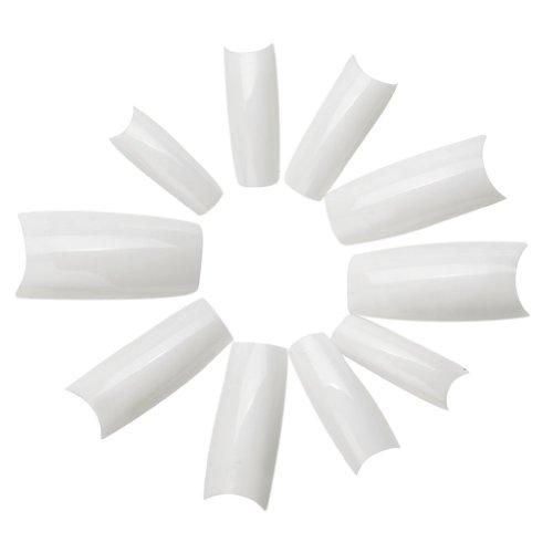 Amazing Value Set of 500pcs Professional White Acrylic French Artificial Half False/Fake Nails Tips By VAGA