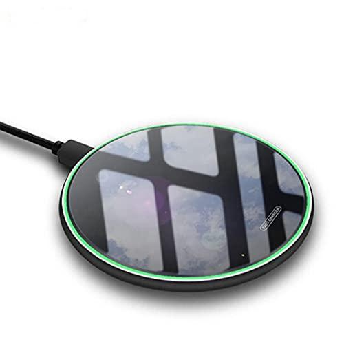 GWSQJ cargador inalámbrico para iPhone 11 Pro SE 2020 8 X XR XS Max, 10 W rápida tarjeta de carga inalámbrica espejo inducción cargador rápido para Samsung S10 S9 S8