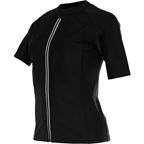 HuntDream Abnehmen Body Shaper Sauna Anzug Kurzarm-Reißverschluss-Shirt