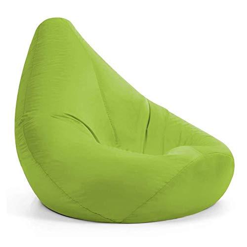 Bean Bag Stuhl waschbarer Sitz Kind-Sofa-Abdeckung Erwachsener Fluffy Tatami Wohnzimmer (Color : Green)