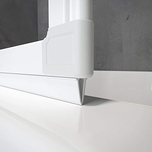 Schulte PVC Dichtung E60076 für Badewannenfaltwand D1300, D1603, D160370, D1330 uvm, 130 cm, Weiß für Profilfarbe Alpinweiß