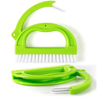Longsheng Cepillo limpiador de azulejos de dos piezas cepillo de hendidura cepillo de limpieza multifunción cocina baño cepillo de limpieza lechada molde cepillo limpiador
