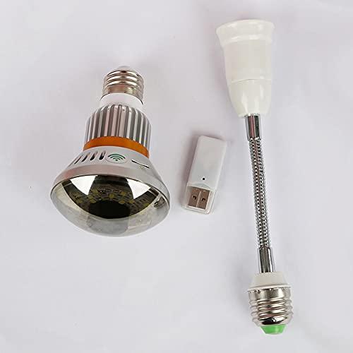 Bombilla WiFi/AP HD960P P2P Cámara de red IP Dección de movimiento, alerta de correo electrónico, noche, almacenamiento circular