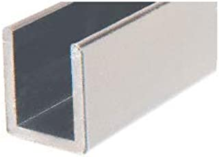 CRL Brushed Nickel Frameless Shower Door Aluminum Deep U-Channel for 3/8
