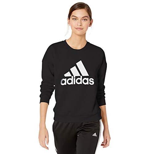 adidas Women's Must Have Badge of Sport Crewneck Sweatshirt Hoodie