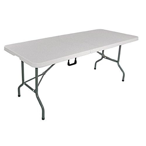 Bolero L001centro tavolo pieghevole, 1.8m, 6', bianco
