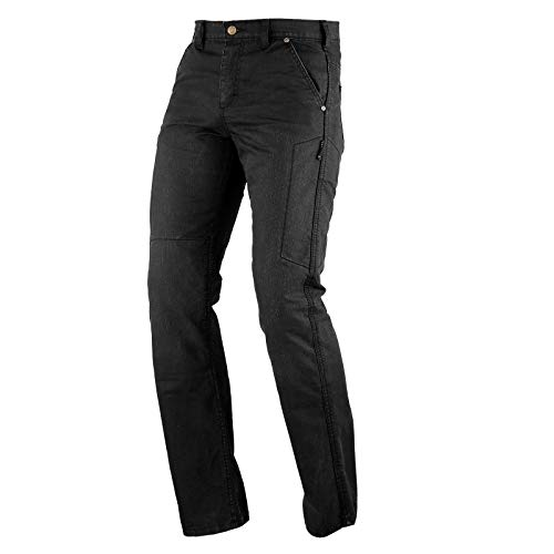 Motorradjeans Damen Wasserdicht Aramid CE Protektoren Textilhose Schwarz 26
