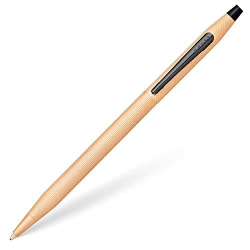 Cross Classic Century Kugelschreiber (Strichstärke M, Schreibfarbe: Schwarz, nachfüllbar, inkl. Premium Geschenkbox) rosé Gold gebürstet