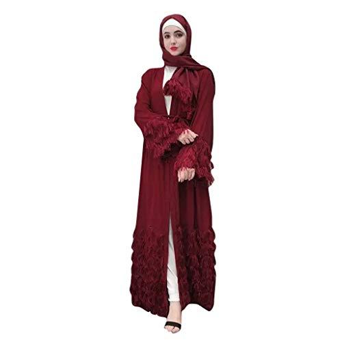Damen Muslime Strickjacke Kleid Piebo Frauen Kimono Muslim Abaya Dubai Muslimische Kleid Kleidung...