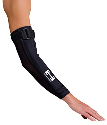Wearable Weights Weighted Black Workout Compression Arm Sleeves (Large, 1.5lbs Each)