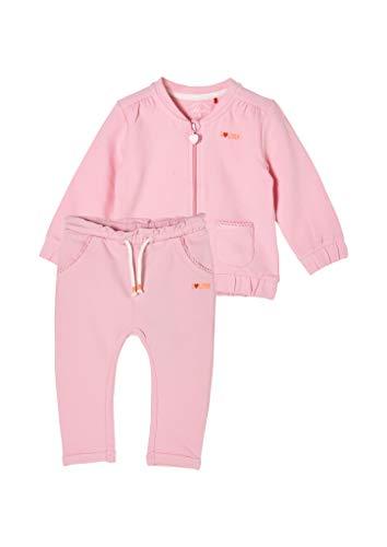 s.Oliver Unisex - Baby Sweatjacke mit Hose pink AOP 74