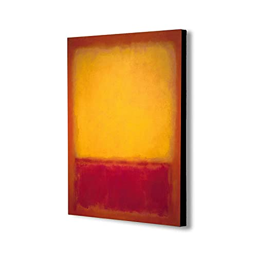 Yellow over Purple by Mark Rothko - Canvas Wall Art Framed Print