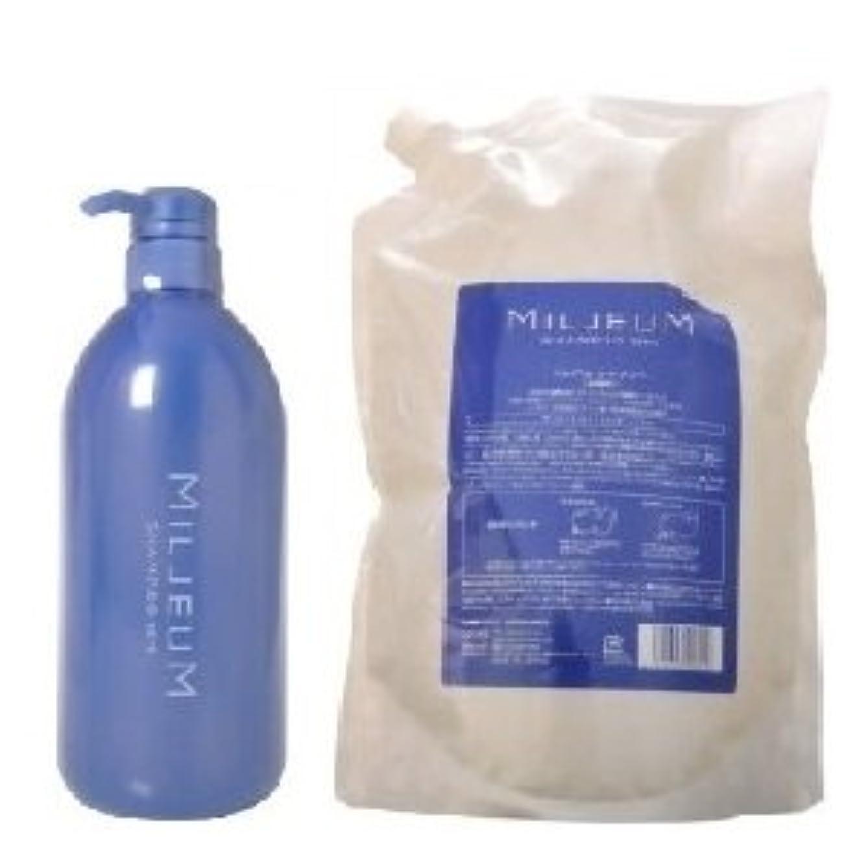 通常アフリカ人うれしいデミ  ミレアム シャンプー 800ml ボトル & ミレアム シャンプー 1800ml レフィル 詰替えセット