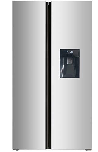 respekta Side by Side Frigorifero Frigorifero No Frost AC178IXWSA+, con dispenser di acqua, classe di efficienza energetica: A