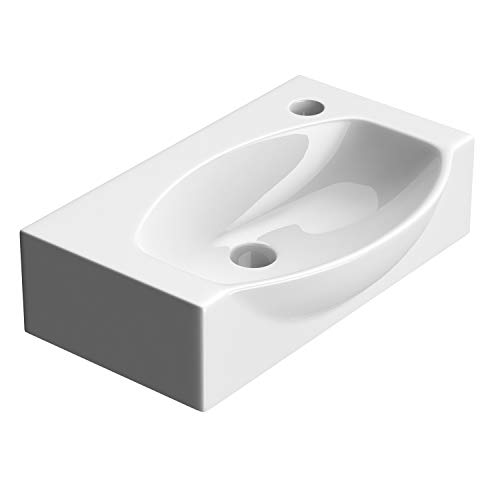 Durovin Bathrooms Compact Ceramic Sink - Wall Hung Mount - D...