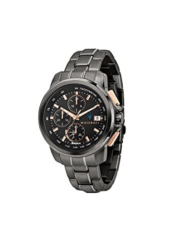 Maserati Reloj Hombre, Colección SUCCESSO Solar, Cuarzo, Solo Tiempo, en Acero, PVD Gris - R8873645001
