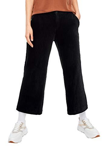 s.Oliver Damen Regular Fit: Culotte aus Cord Black 42