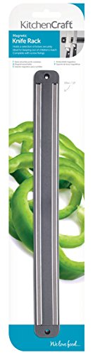 KitchenCraft Magnetic Knife Holder for Wall, Plastic, 33 cm