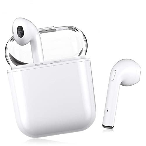 Auriculares Inalámbricos Bluetooth 5.0 con Cancelación de Ruido, Auriculares Deportivos Táctiles Inteligentes a Prueba de Agua, con Estuche de Carga portátil