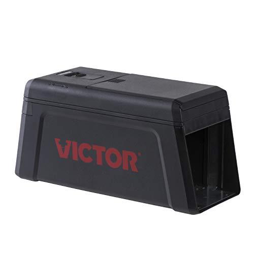 PROTECT HOME Elektronische Rattenfalle, sauber und sicher gegen Ratten, effektive und giftlose Rattenbekämpfung, schwarz