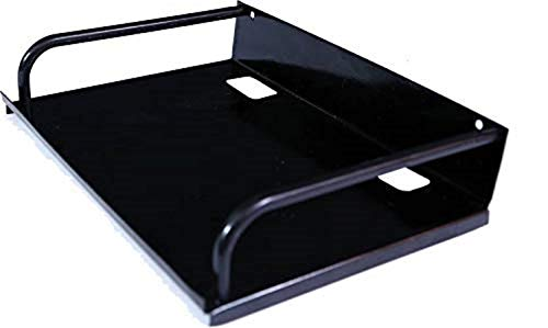 SVM Products Multi-Purpose Wall Mount Set Top Box Stand | Metal | Black