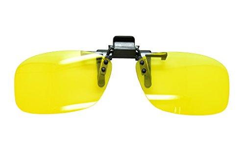 Nachtsichtbrille zum Autofahren, zum Aufstecken / Anklipsen, polarisiert, Antibeschlag