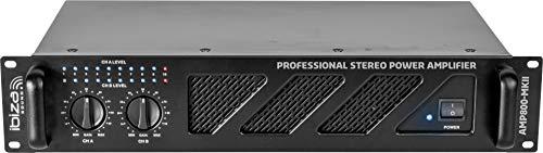 AMP800-MKII Ibiza Sound versterker, 2 x 600 W