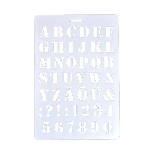 REFURBISHHOUSE Buchstabe Schablonen, Buchstaben- und Zahlenschablone, Malerei Papier Handwerk Alphabet und Nummer Schablonen (#1)