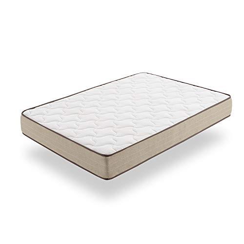 Moonia - Colchón Viscosoft 110X180CM - Colchones de Alta Durabilidad - Colchón Antiácaros - Grosor +/- 21 cm - Modelo Bamboo Eco Fresh
