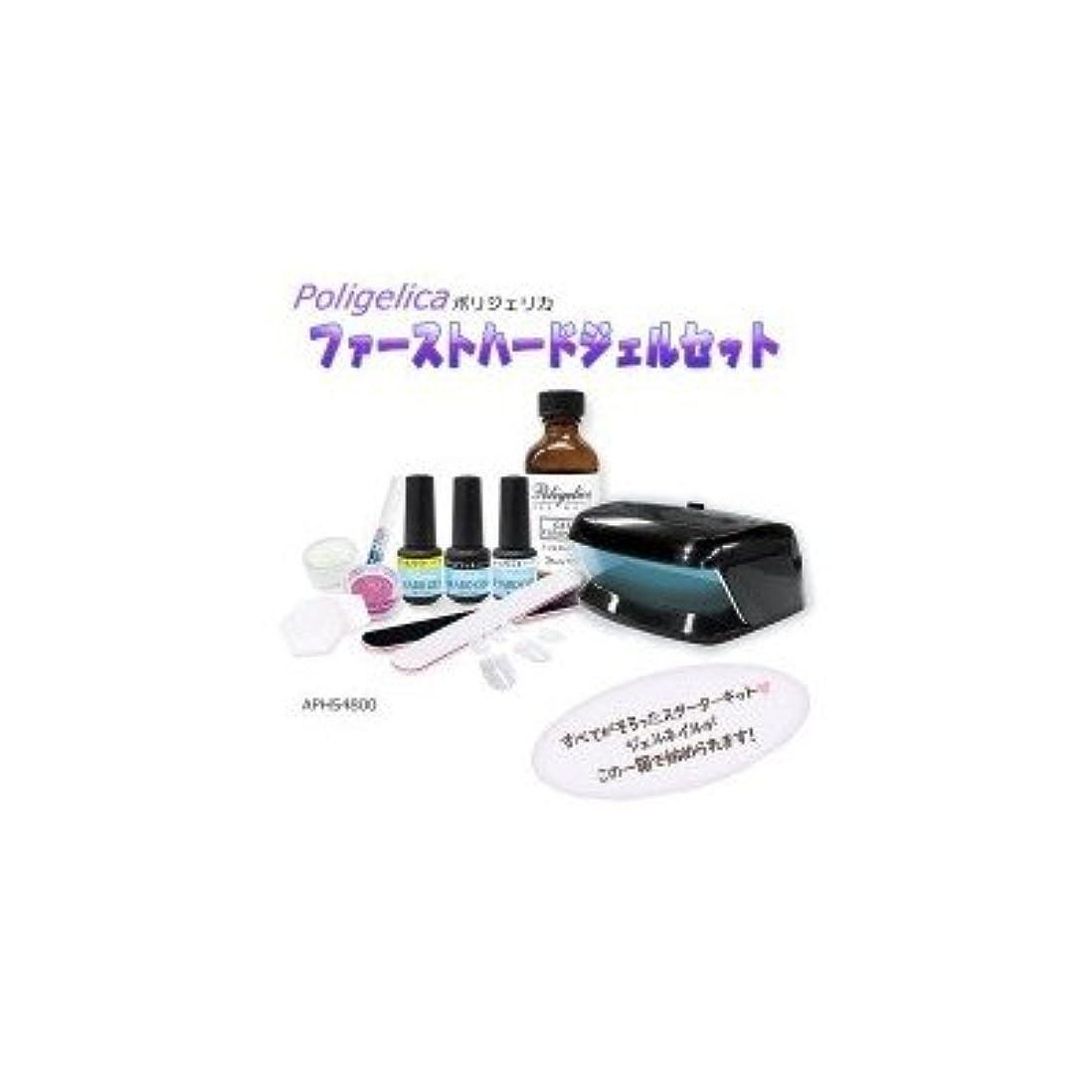 指令石化するセメントビューティーワールド ポリジェリカ Poligelica LEDミニライト付 ファーストハードジェルセット APHS4800