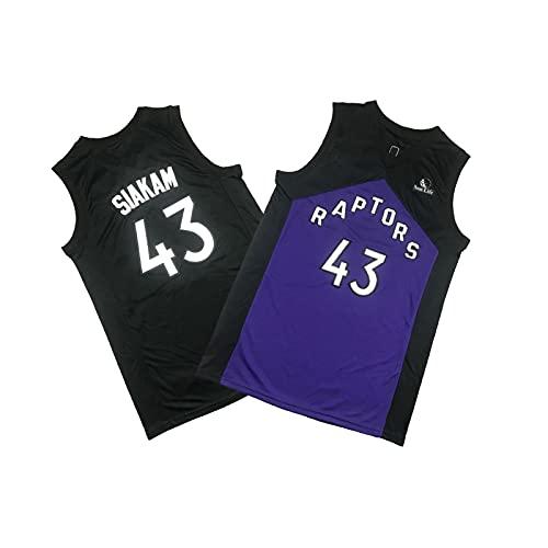 YDSZ Ráptor 43# SIÁQUAM Purple Bonus BONIFICO EDICIÓN DE BALONES DE Baloncesto, Sudadera de Camiseta para Hombre, Ropa Deportiva Transpirable Black-L