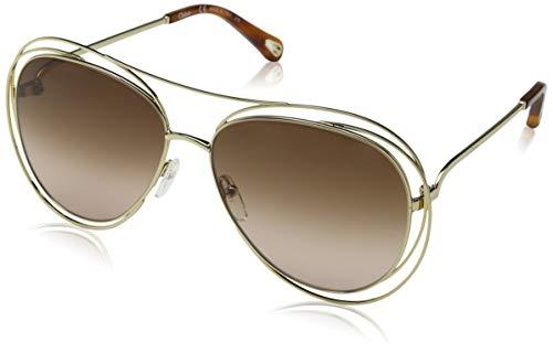 Chloè Ce134S 791 61 Gafas de sol, Gold/Havana/Brown Lens, Mujer
