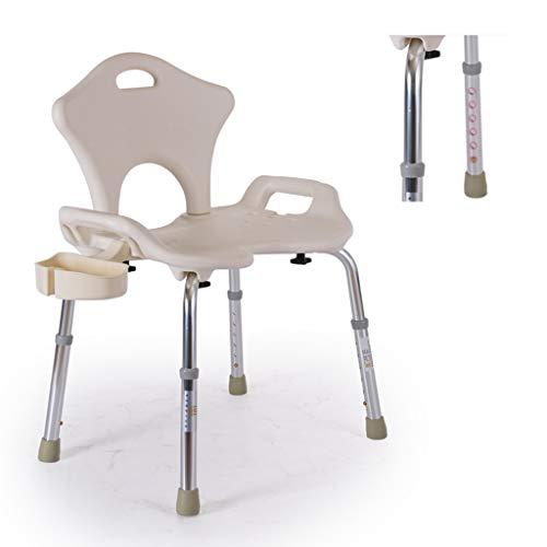 Douchestoel, in hoogte verstelbare verpleegbadkruk met afneembare douchecabine - voor oudere senioren met een handicap
