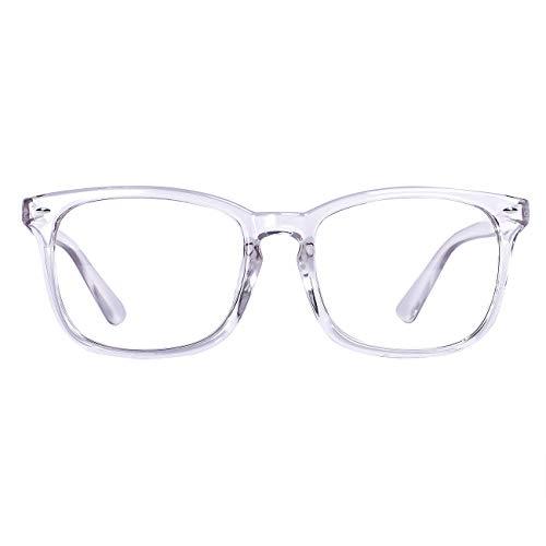 MAXJULI Blue Light Blocking Glasses,Computer Reading Gaming TV Phones Glasses for Women Men (Translucent)