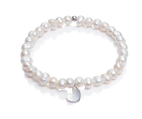 Pulsera Viceroy Comunión Niña 6004P000-60 Perlas y Corazón de Plata de Ley