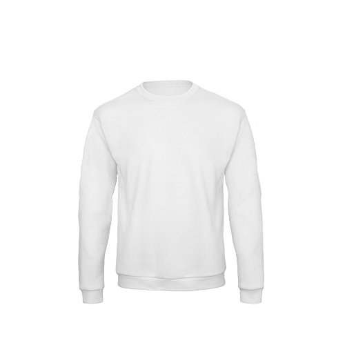 B&C Unisex ID.202 50/50 Sweatshirt (L) (Weiß)