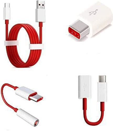SAIANSH ENTERPRISES USB Gadget Accessory Combo for OnePlus 7T 7T Pro 7 7Pro All OnePlus Smartphones White