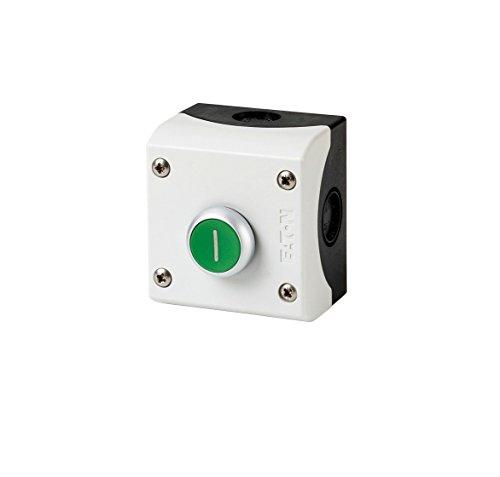 Eaton 216522 Drucktaster, 1 Schließer + 1 Öffner, Flach, grün, Aufbau