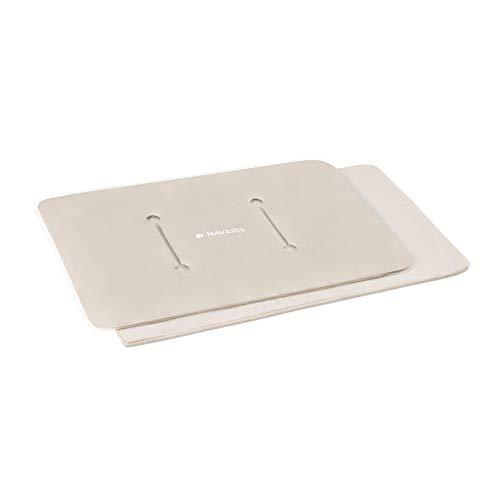 Navaris Paquete de arcilla térmica - Bolsa grande para aplicar frío y calor - Almohada reutilizable de 38 x 27 CM - Apta para microondas congelador