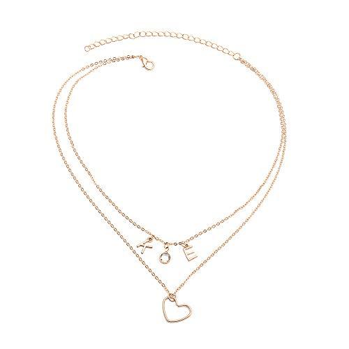 Clavicle Ketting Kristallen Love Letter Hanger Wilde Accessoires Ladies Fashion Eenvoudige Sieraden Geschikt Voor Geschenken Voor Vriendin