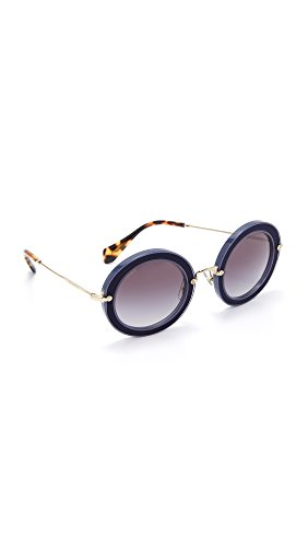 Miu Miu Damen 0MU08RS VIG5D1 49 Sonnenbrille, Blau (Bluette/Grey)
