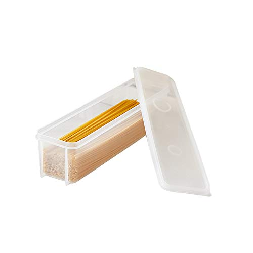 YUMEIGE Caja de almacenamiento de cosméticos Caja de almacenamiento de fideos de cocina, caja sellada rectangular con tapa, caja de almacenamiento para el hogar para fideos y pastas, caja de almacenam