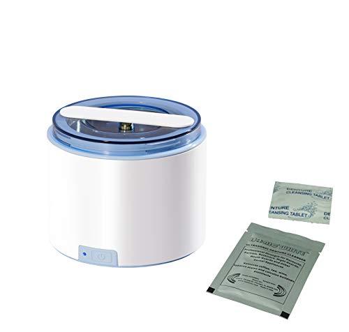 iSonic DS180 Portable Denture/Aligner/Retainer Cleaner for All Dental and Sleep apnea appliances, DC12V, AC100-240V Worldwide
