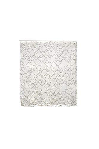 FRANDIS Duschvorhang mit 12Ringen PVC 180x 180cm Taupe