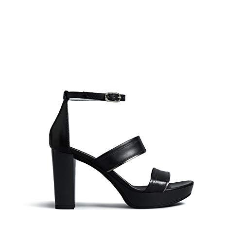Sandalo da Donna NeroGiardini in Pelle Nero E012215D. Scarpa dal Design Raffinato. Collezione Primavera Estate 2020. EU 38