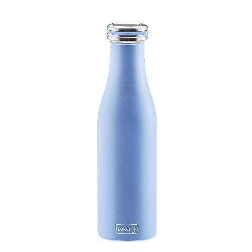 Lurch 240940 Thermo-Flasche für heiße und kalte Getränke aus Doppelwandigem Edelstahl, 0,5l,