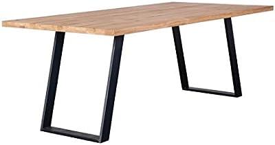 Zons Grande Table DE Salle À Manger 8-10 Personnes Bois CHÊNE Massif, 220x100xH75 cm