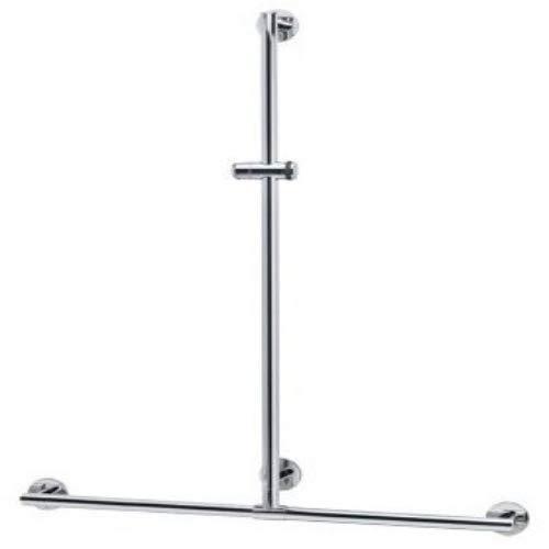 Keuco 34914170911 Duschhandlauf Plan Care 982 x 1263 mm, frei positionierbar, silber-eloxiert / verchromt