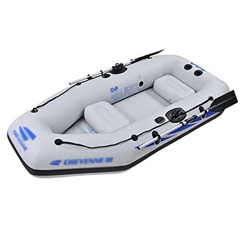 ZXQZ Kayak Kayac, Kayaks Inflables de Goma con Remos de Aluminio, 4 Personas